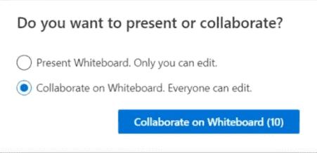 Whiteboard in Microsoft Teams
