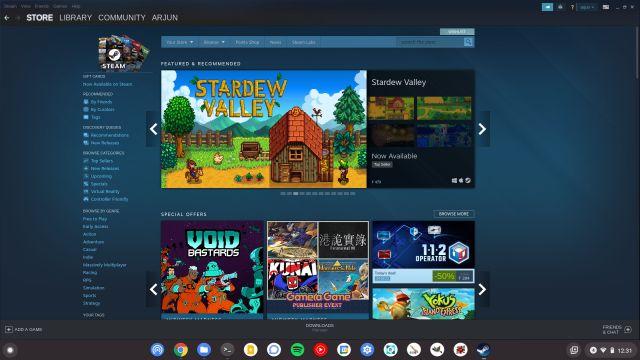 Steam Games on a Chromebook